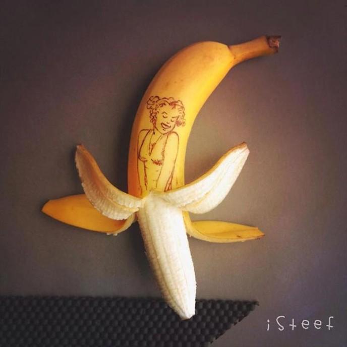 arte criativa feitas com bananas