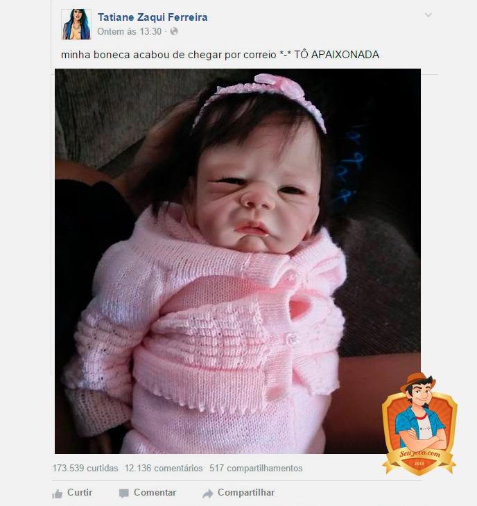 tati zaqui mostra boneca facebook