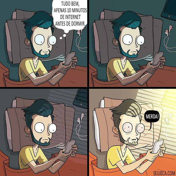 internet antes de dormir