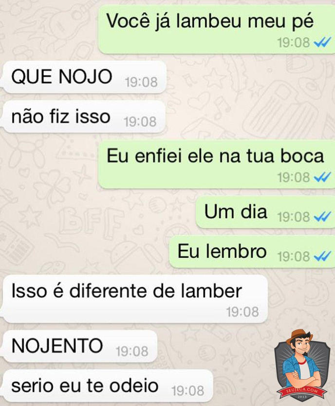 Trollou a namorada e revelou no WhatsApp