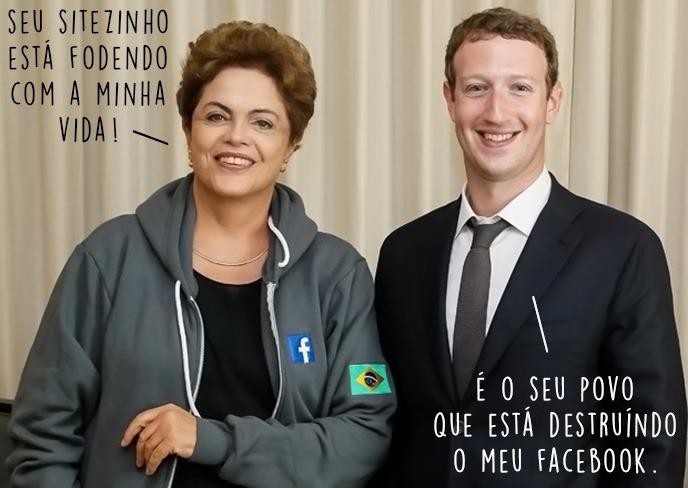 dilma se encontra com mark zuckerberg