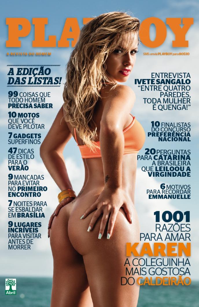 Playboy Novembro 2012 :: Karen Kounrouzan