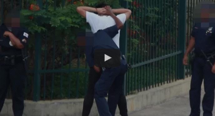 selfie em frente a policia