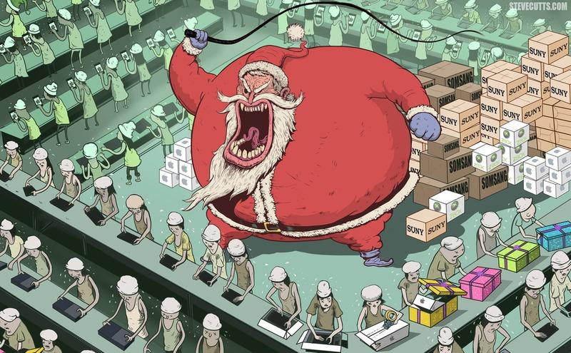 Papai Noel não é um bom velhinho!