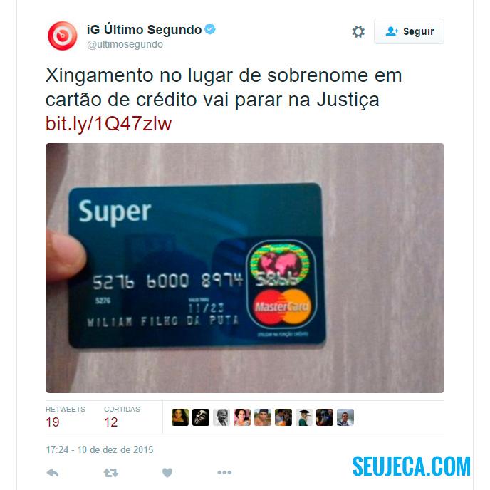cartão de crédito personalizado