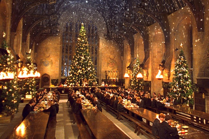 fãs harry potter natal hogwarts