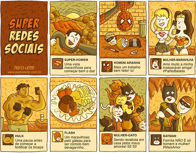 Super-heróis nas redes sociais