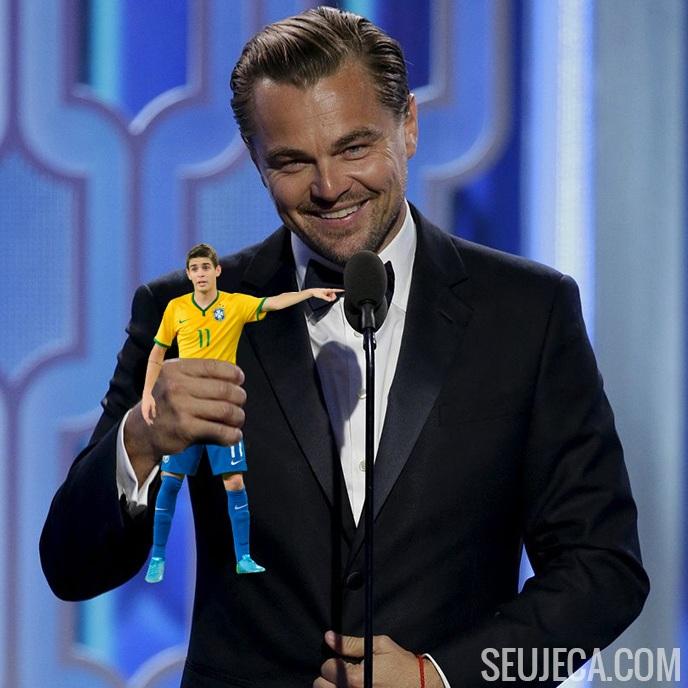 Leonardo DiCaprio leva o Oscar para casa
