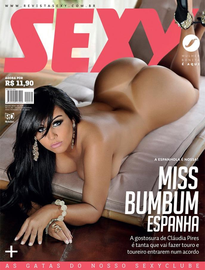 revista sexy julho 2016 claudia pires - seu jeca