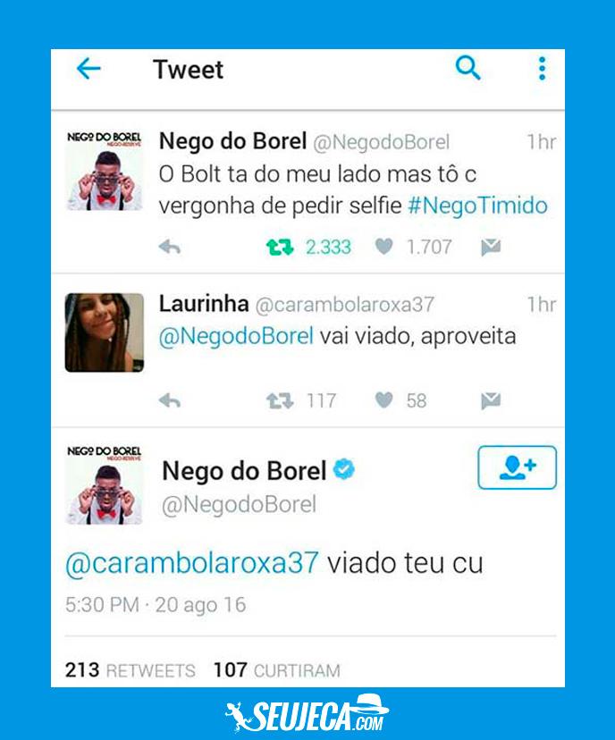 Nego do Borel apelou com a novinha