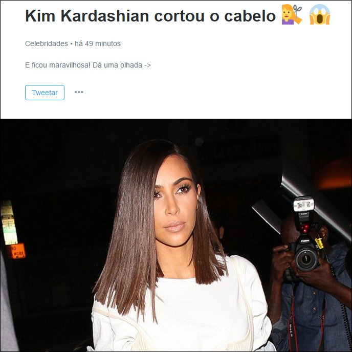 notícia kim kardashian seu jeca