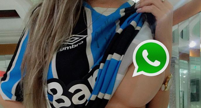 Torcedora gremista gostosa nua no WhatsApp