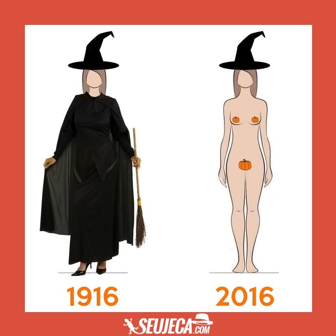 evolução fantasias halloween