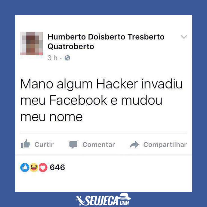 O drama de Humberto no Facebook