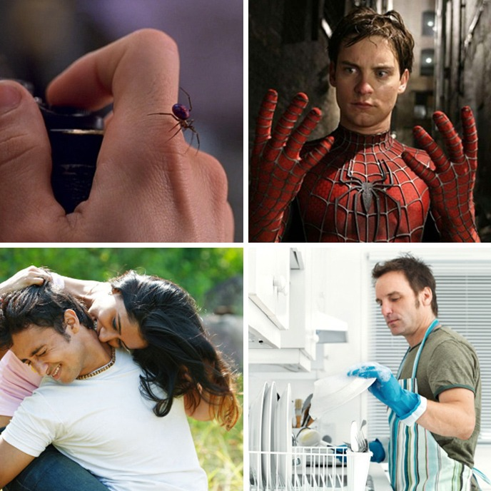 picada de aranha vs mordida de mulher