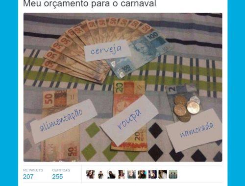 orçamento para o carnaval