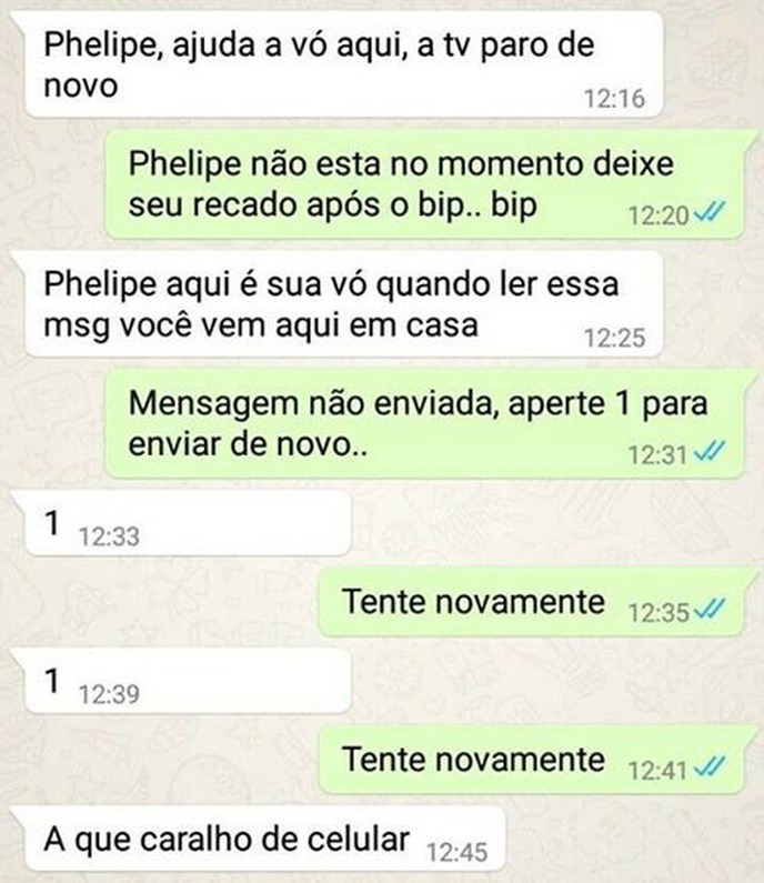 trollando a vovó no whatsapp