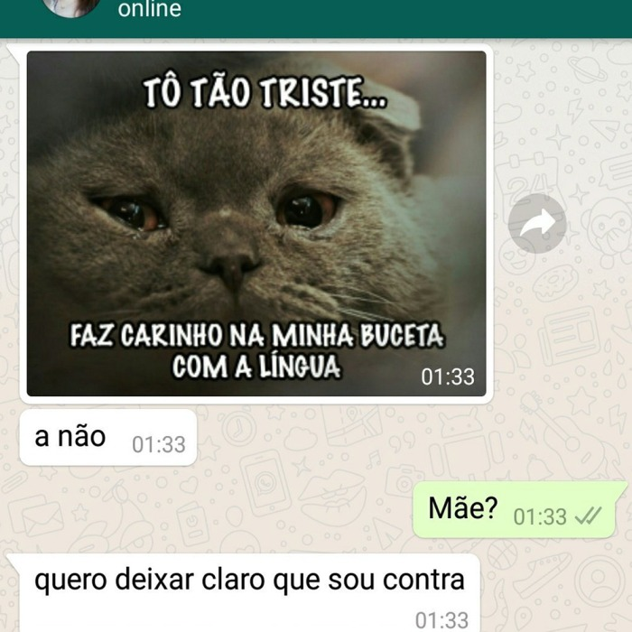 Descobrindo as fantasias sexuais da mamãe no WhatsApp