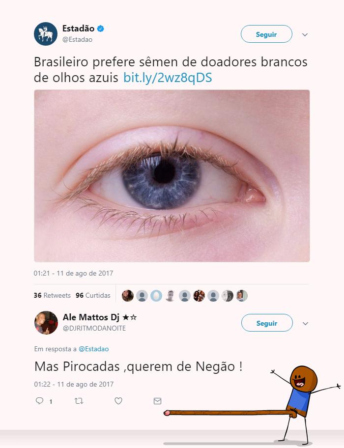 brasileiro prefere brancos de olhos azuis
