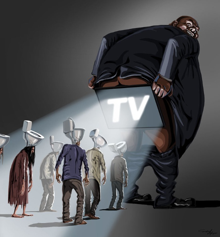 televisão é uma merda