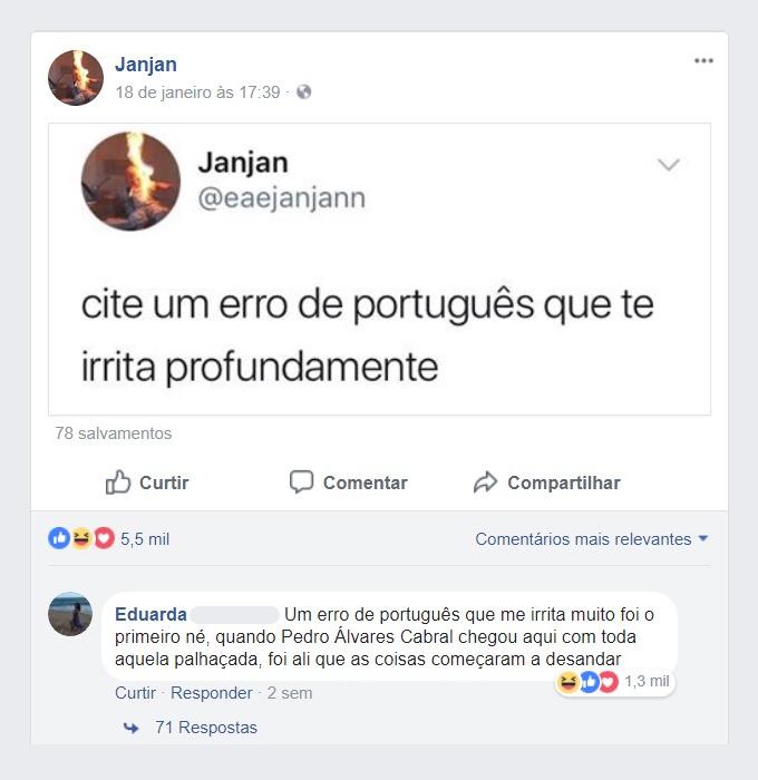 o maior erro de português de todos os tempos