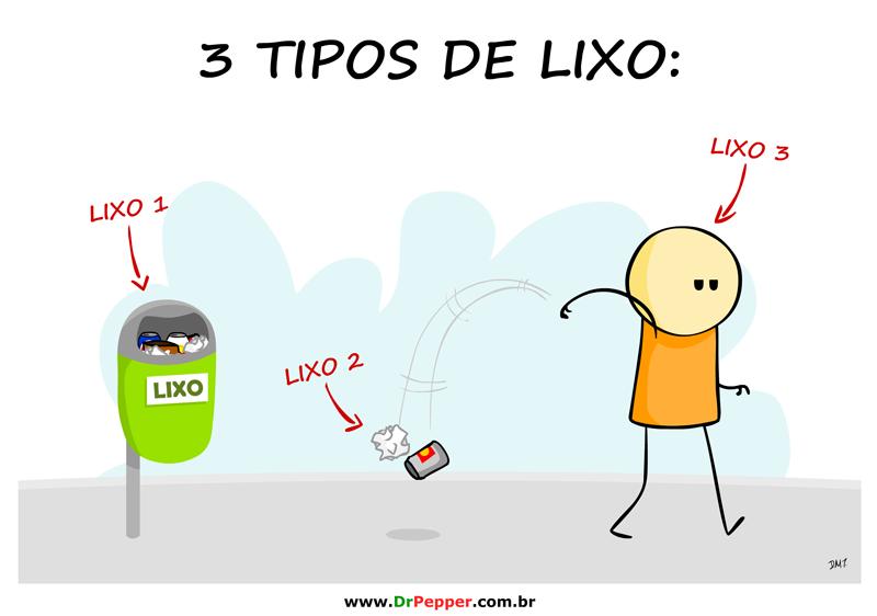 3 tipos de lixo
