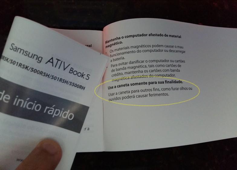 Manual do usuário exclusivo para brasileiros