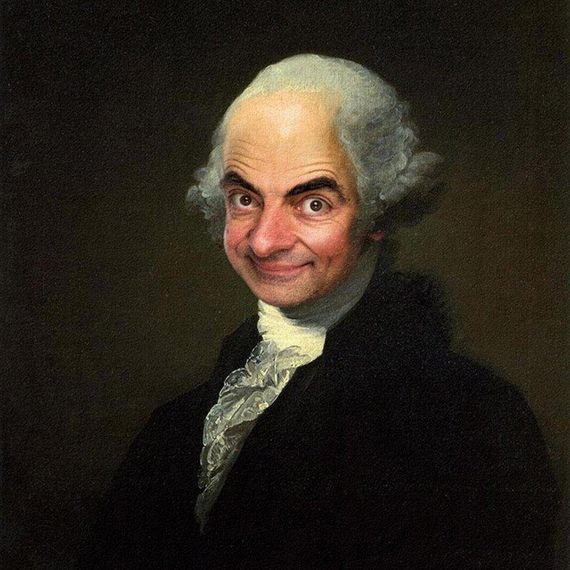 pinturas clássicas mr. bean