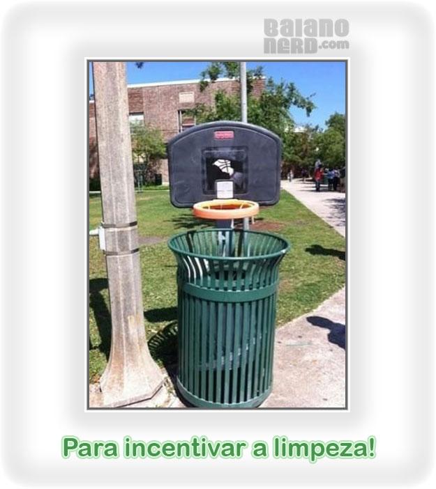 A melhor campanha jogue lixo no lixo