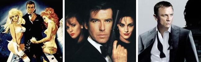 Coleção completa de pôsteres de James Bond