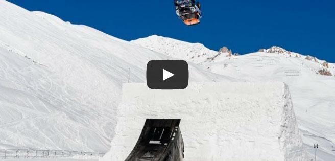 Backflip sensacional com um Mini Cooper na geleira