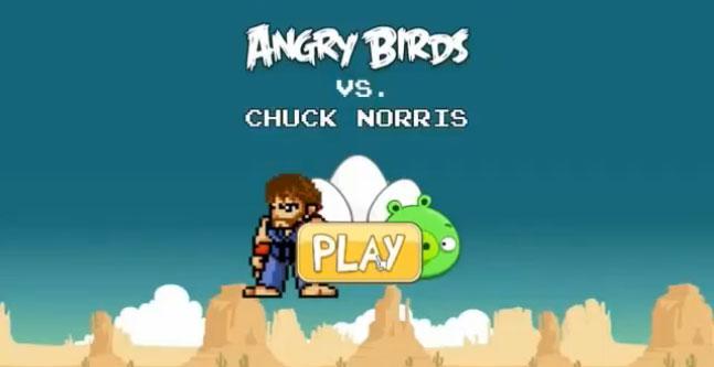 Chuck Norris não morreu… ele está no Angry Birds