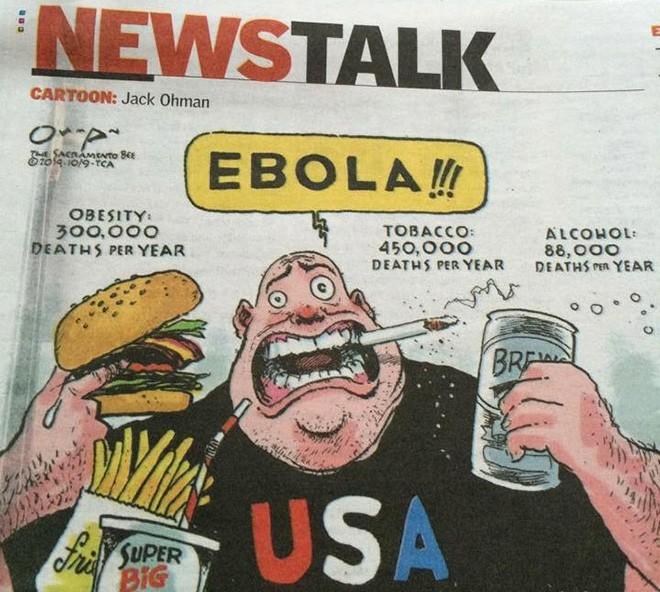 Ebola, é álcool, é fumo…