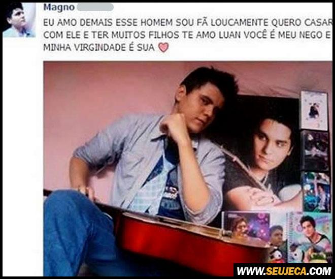 Fã apaixonado se declara para Luan Santana no facebook