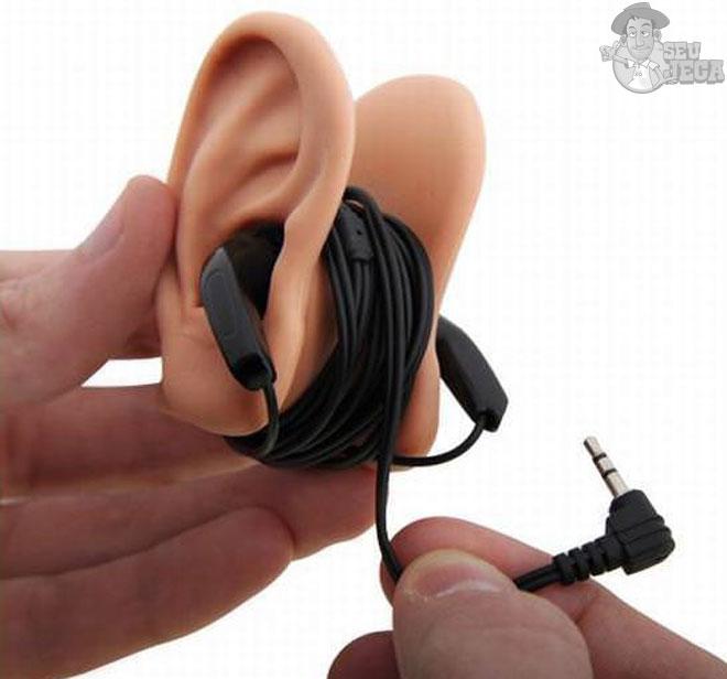 Dispositivo criativo para fone de ouvido