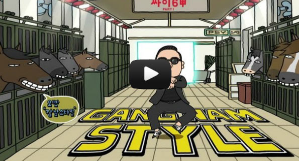 """Gangnam Style"" estabelece recorde mundial no Youtube"
