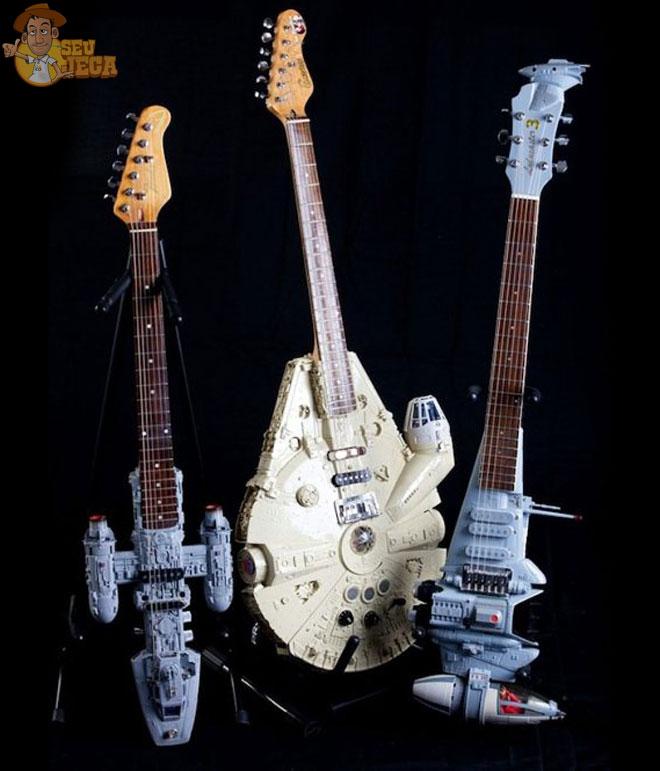 guitarras inspiradas em naves espaciais de star wars