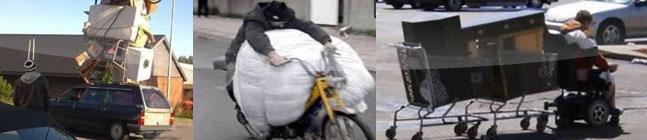 As formas mais bizarras de transportar objetos