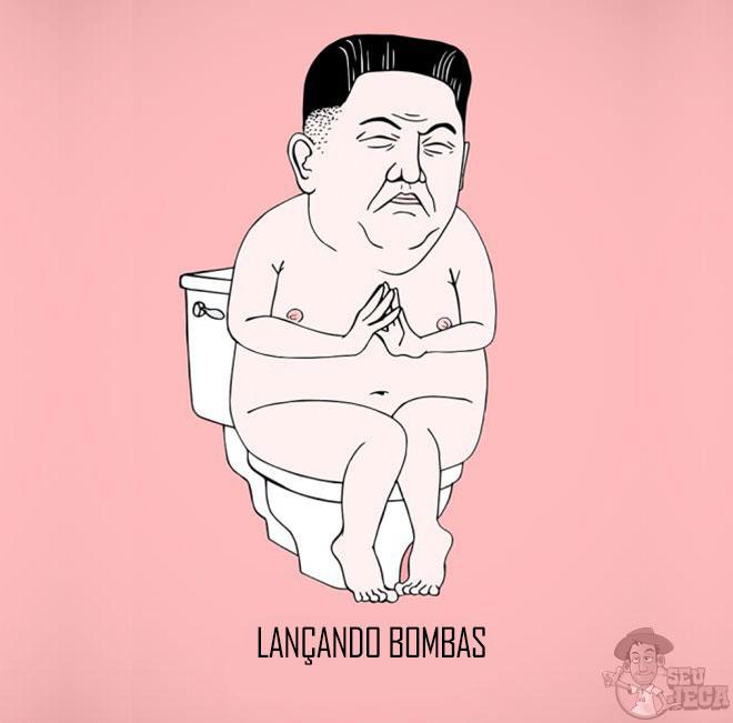 Kim Jong-un lançando bombas