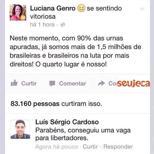 Luciana Genro na Libertadores