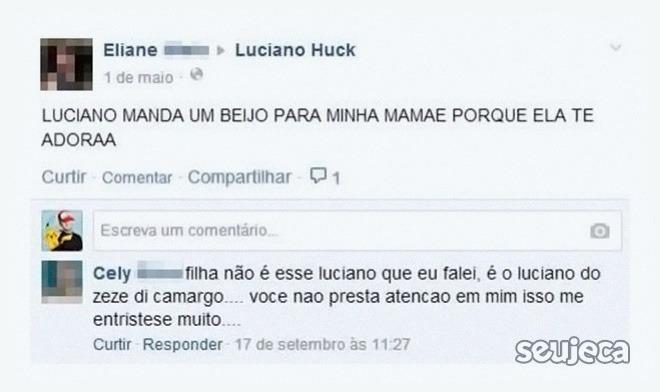 Não é esse Luciano, filha!