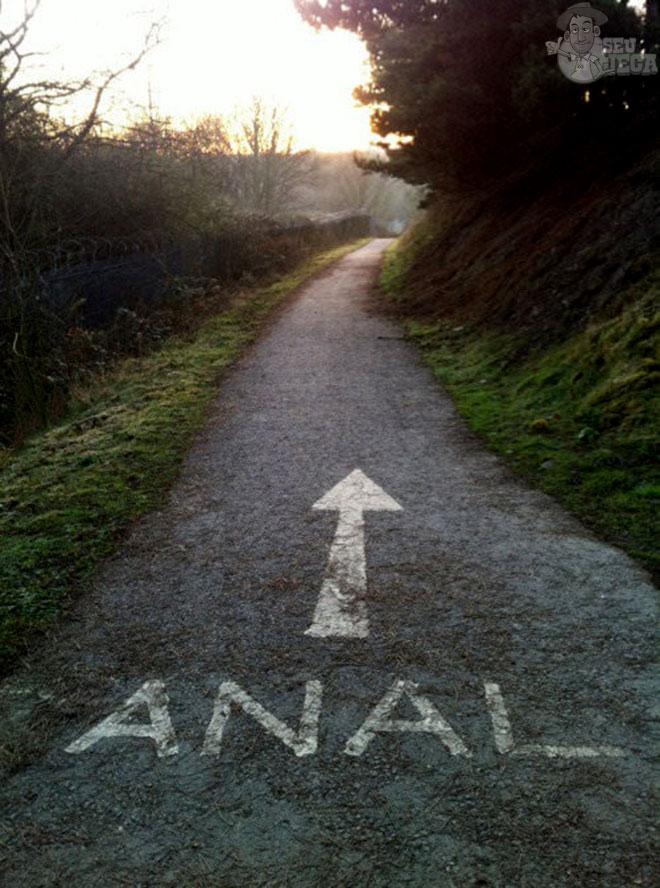 O caminho para o fiofó