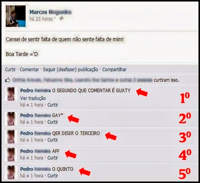 O cara mais idiota do facebook