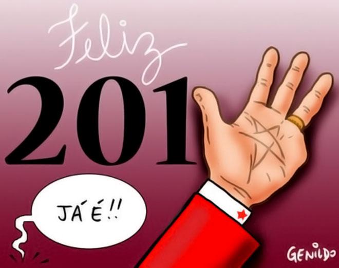 O ex-presidente Lula deseja a todos um Feliz 2014