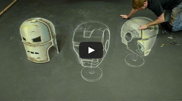 Pintura do Homem de Ferro em 3D