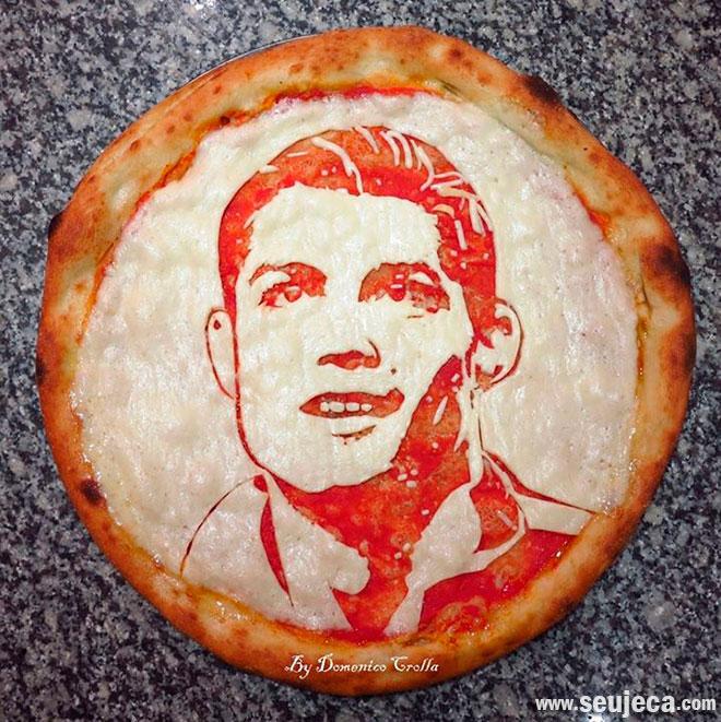 Pizza inspirada em Cristiano Ronaldo