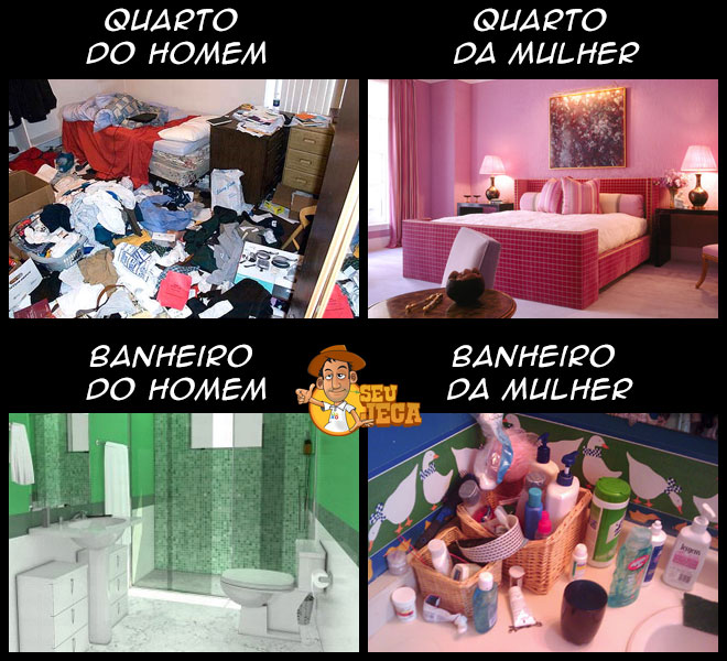 Quarto vs. banheiro