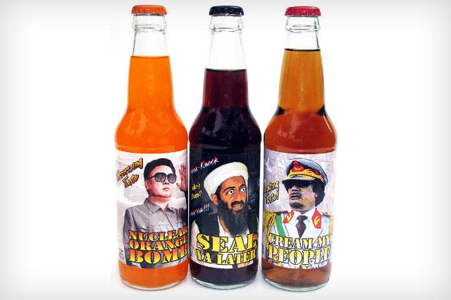 Empresa cria refrigerantes de ditadores e terroristas