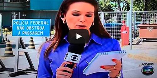 Repórter da Globo trava ao vivo no Jornal Hoje