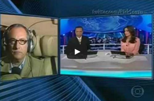 Repórter xingando ao vivo no Jornal Nacional